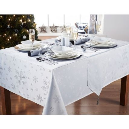 32++ Grey and white christmas tablecloth ideas in 2021