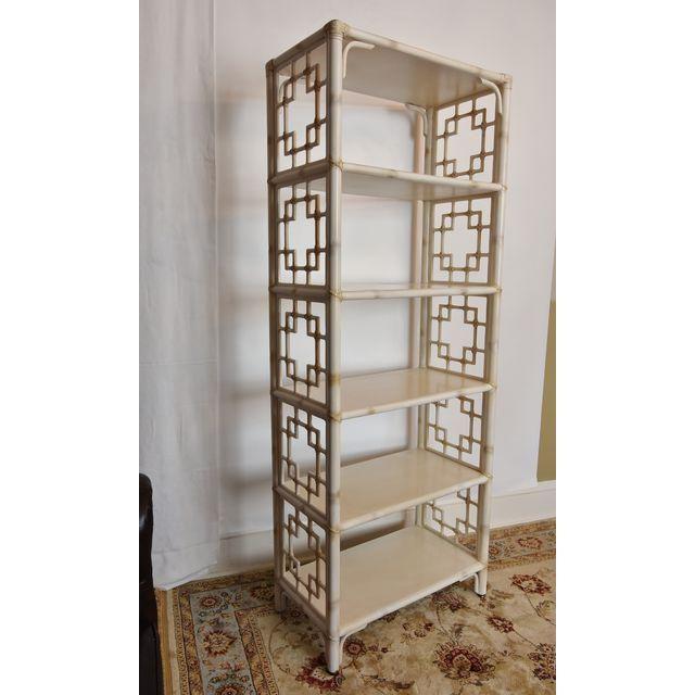 Vintage Bookcase Etagere Vintage Chinoiserie Faux Bamboo Etagere