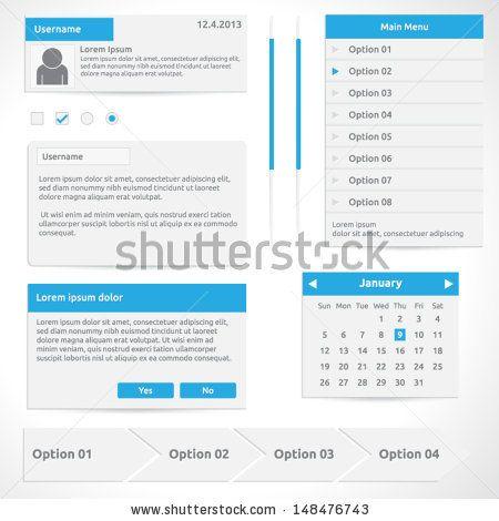 website elements options calendar dialog box steps input radio and