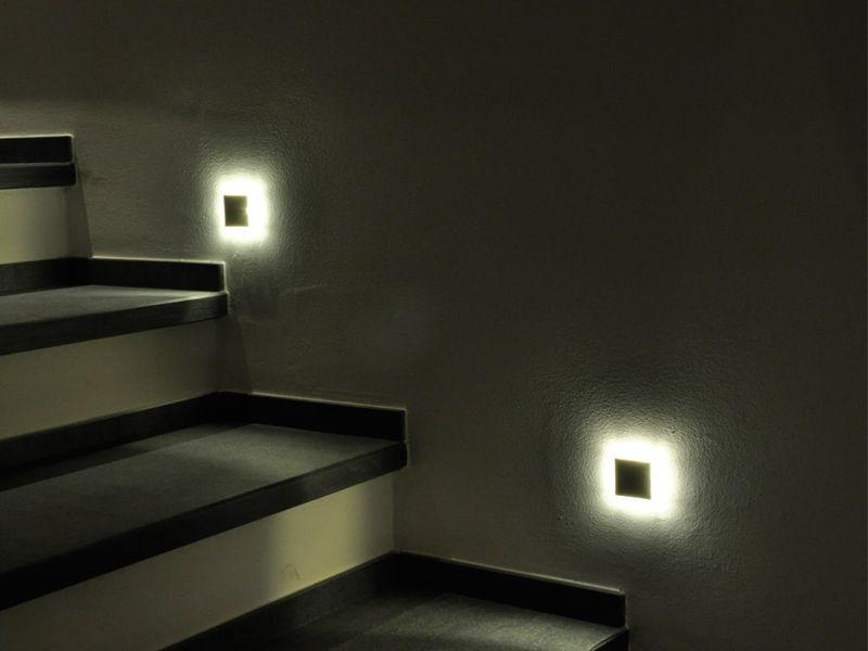 Segnapasso a LED SQUARE By PURALUCE Led, Faretti e