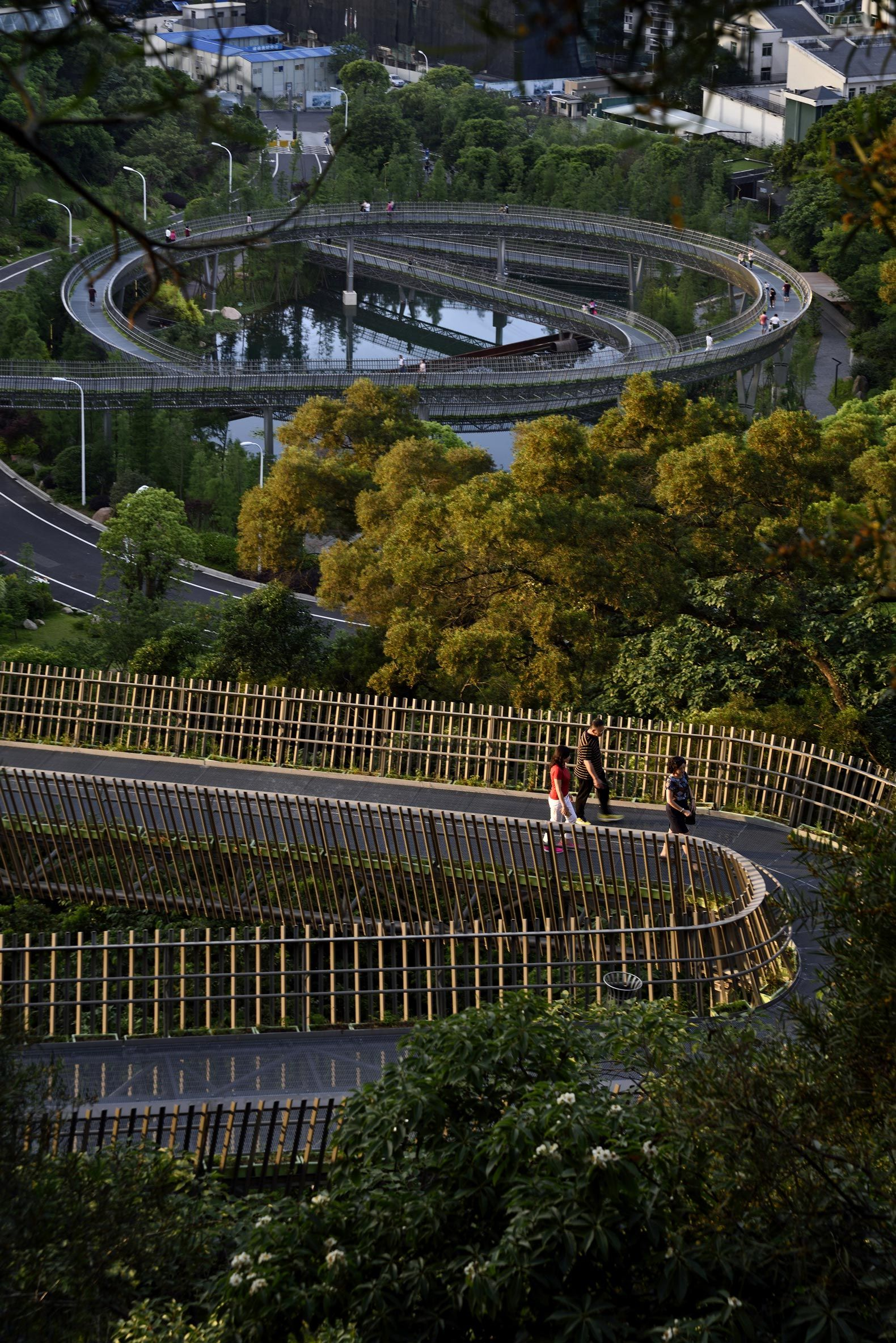 Walking on the forest  Fuzhou forest walkway by LOOK Architects