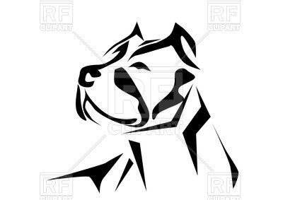 Pitbull Head Ink Drawing Style 38324 Download Royalty Free