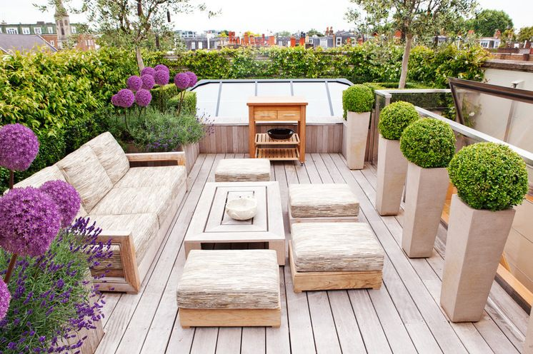 Terrace by Randle Siddeley Associates Ideas para mi futura casa - como decorar una terraza