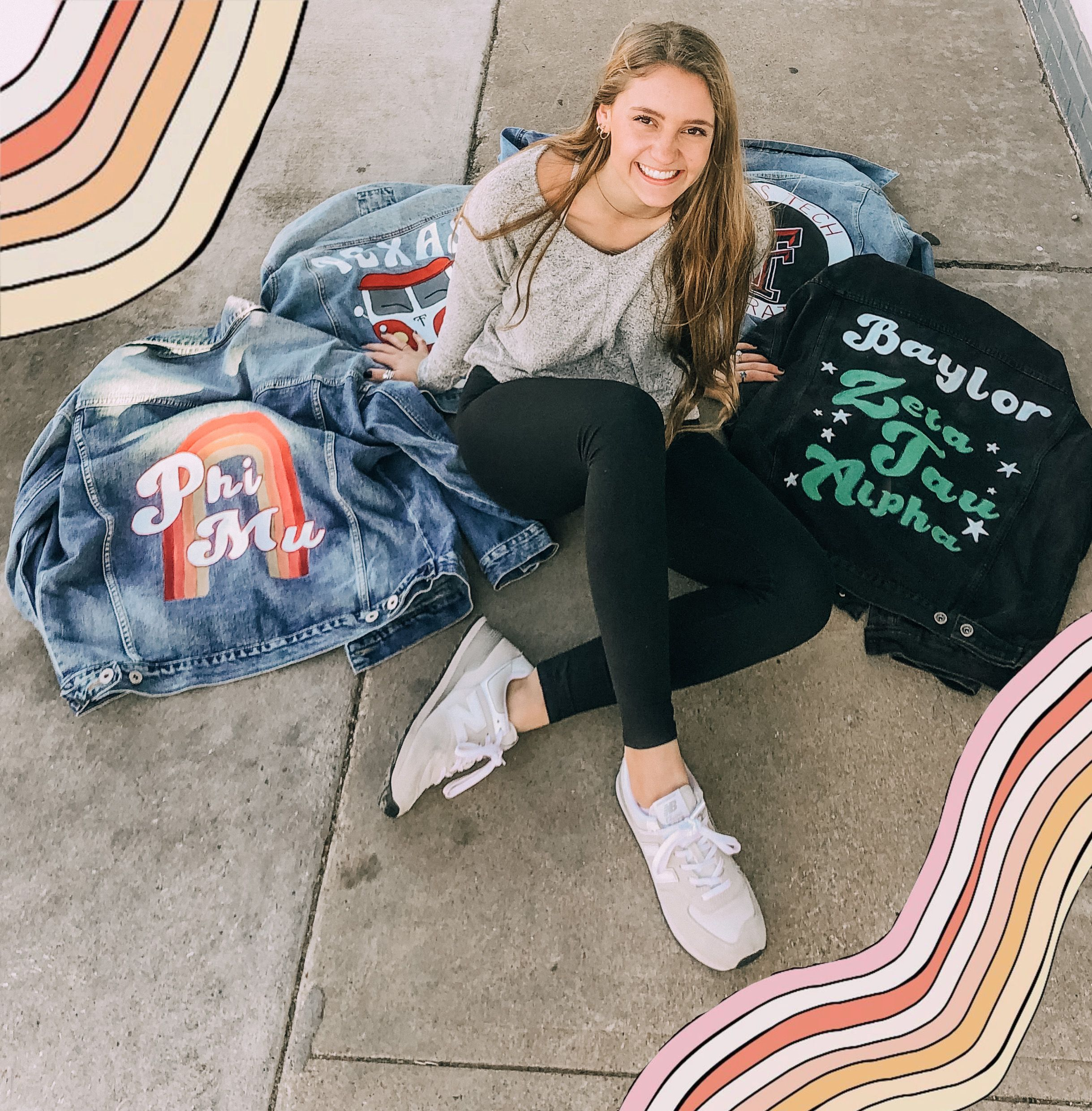 Custom Jean Jackets Etsy Sorority Outfits Gameday Outfit Jean Jacket [ 2479 x 2438 Pixel ]