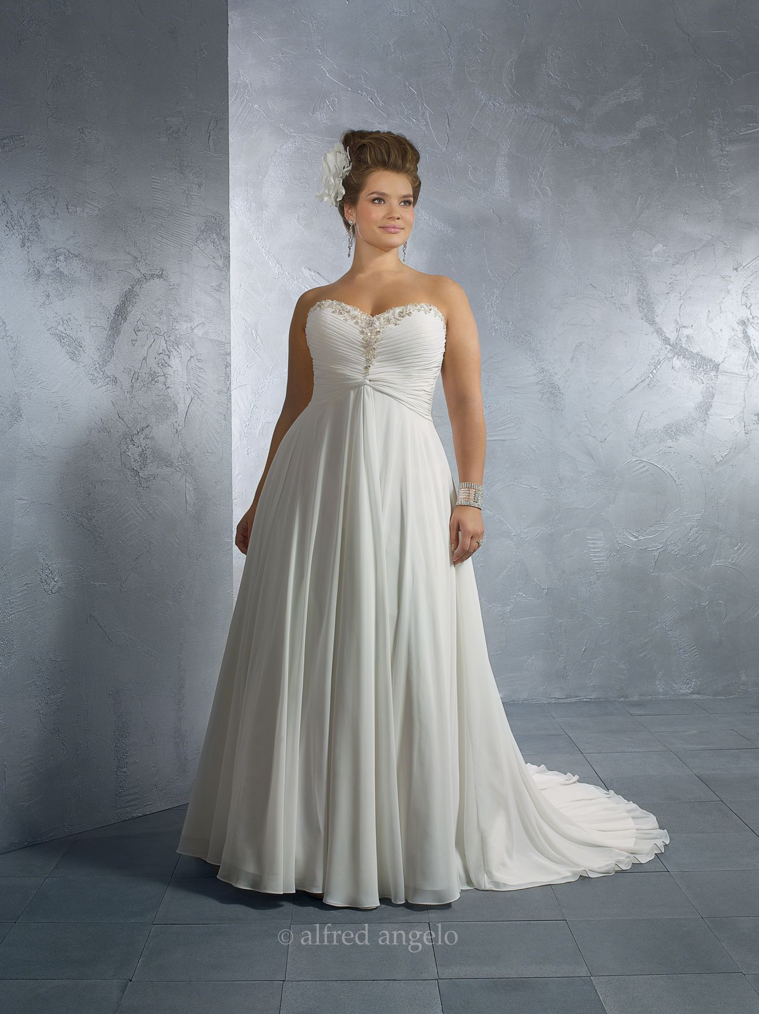 My fantasy wedding dress. Size18W-22W. Hopefully I can lose some ...