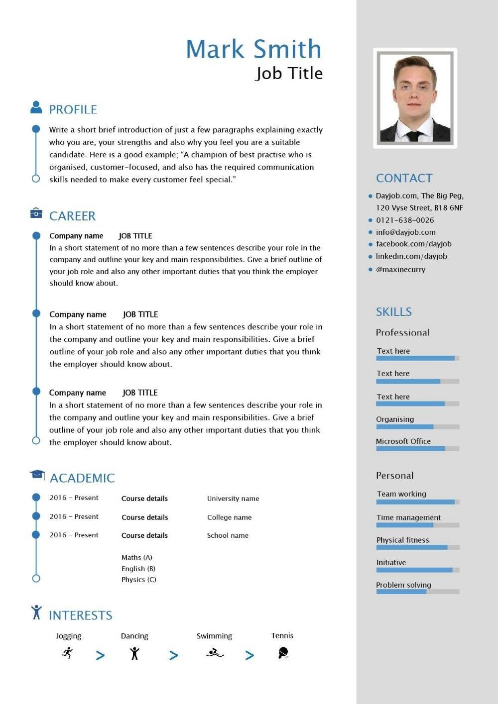 Resume Template Uk 1 Features Of Resume Template Uk That