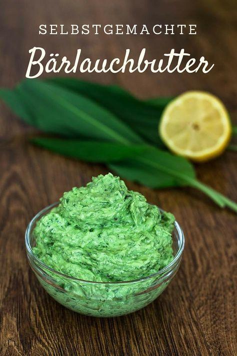 Ein einfaches Rezept für selbstgemachte Bärlauchbutter. Zutaten: 100 g frischer Bärlauch 250 g weiche Butter 2 EL Zitronensaft Salz und Pfeffer