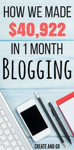 Make money online blogging - How we made over $40k in one month with our blog! http://createandgo.co/july-income-report-2016/