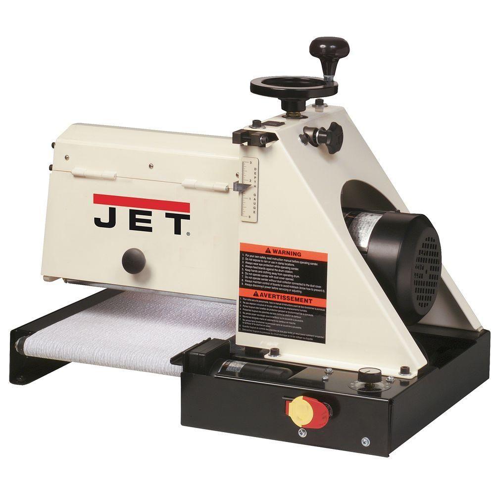 JET 115-Volt, 10-20 Plus 1 HP 10 in. x 20 in. Mini Benchtop Drum ...