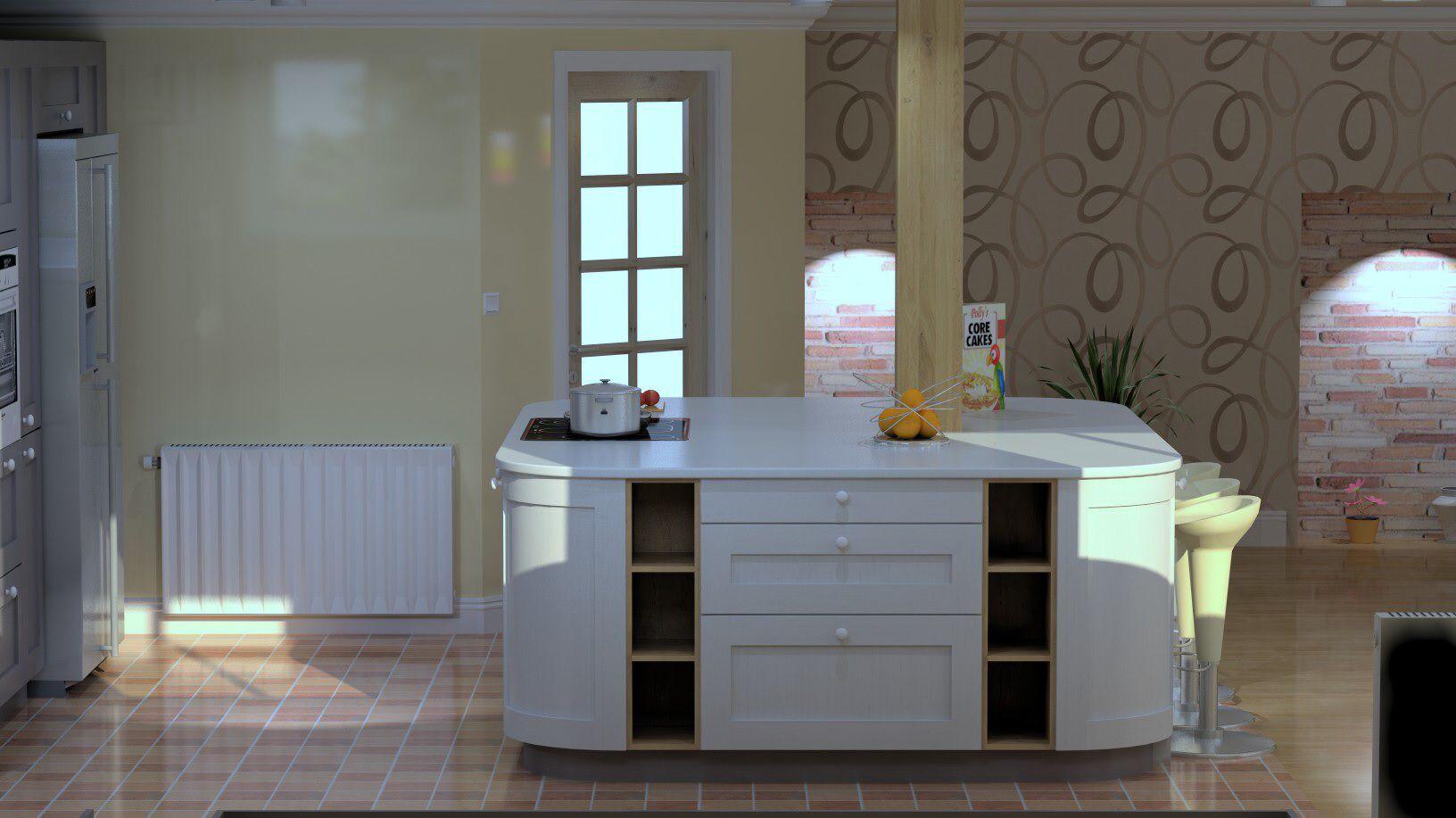Schuller C Painted Shaker Kitchen Drawn On Compusoft Cad Software Amusing Kitchen Design Cad Software Design Decoration