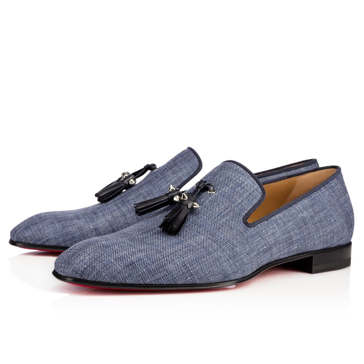 4a0b7021456b Dandelion Tassel Flat Version Navy Denim - Men Shoes - Christian Louboutin