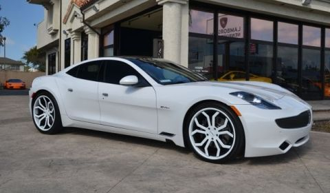 For White 2017 Fisker Karma With Giovanna Wheels