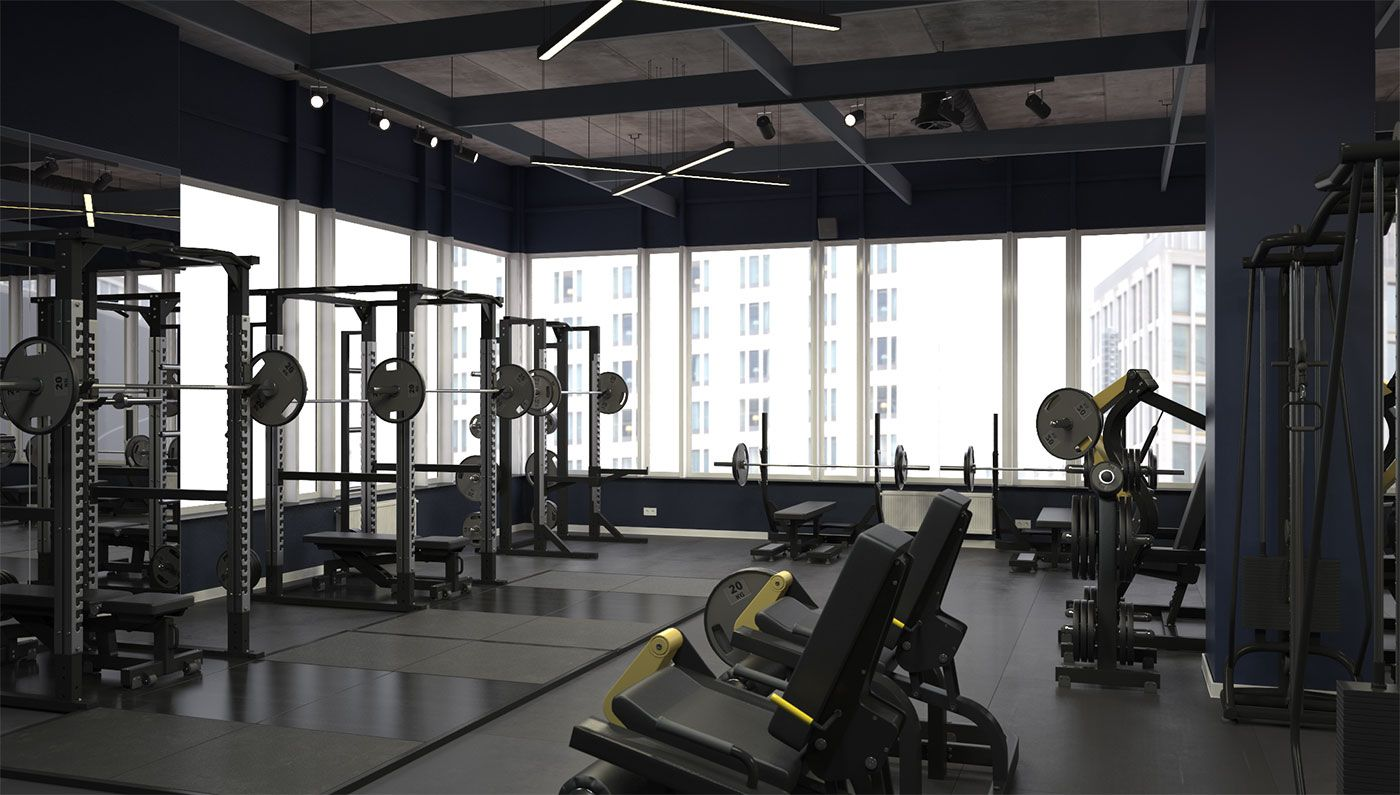 3d Model Of Gym Gym 3d Model Workout Machines
