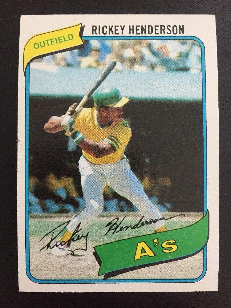 1980 Topps Rickey Henderson Baseball Card 482. Oakland A
