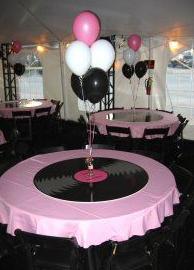 Table decor also party dance decorations sock hop rh pinterest