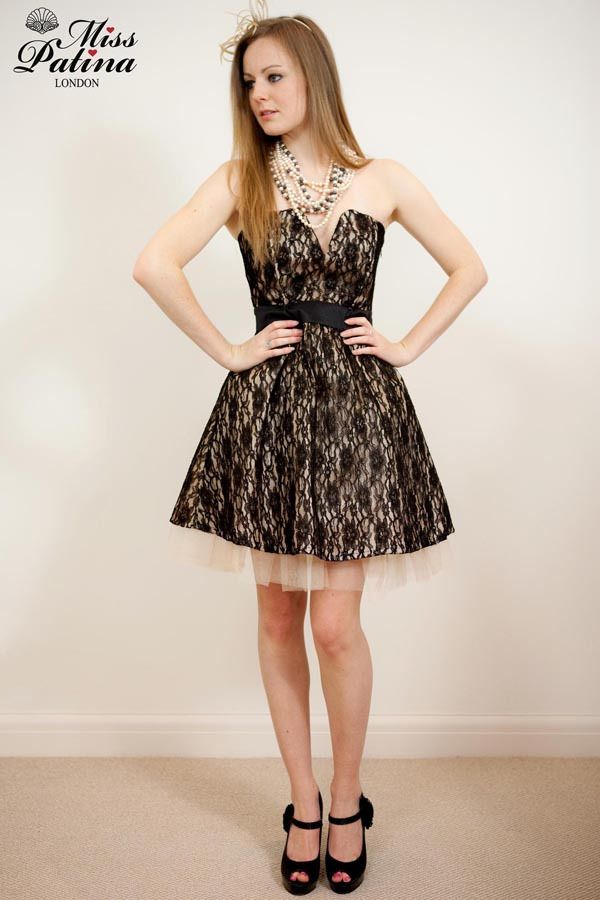 Image of Miss Patina 50\'s Glamour Parisian Style Lace Prom Dress ...