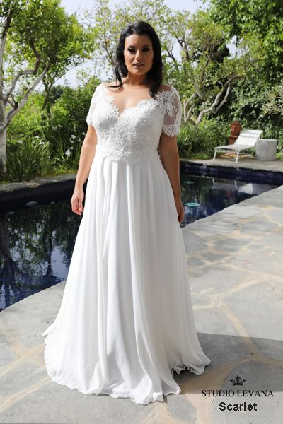 Plus size wedding gowns 2018 Scarlet (4) | DonnaLee 2 | Pinterest ...