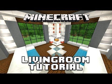 how to make living room furniture in minecraft and dining same color tutorial a fireplace modern house build ep 17 youtube