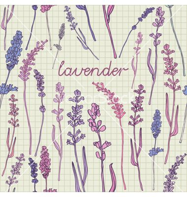 perfect lavender pattern background vector lovely