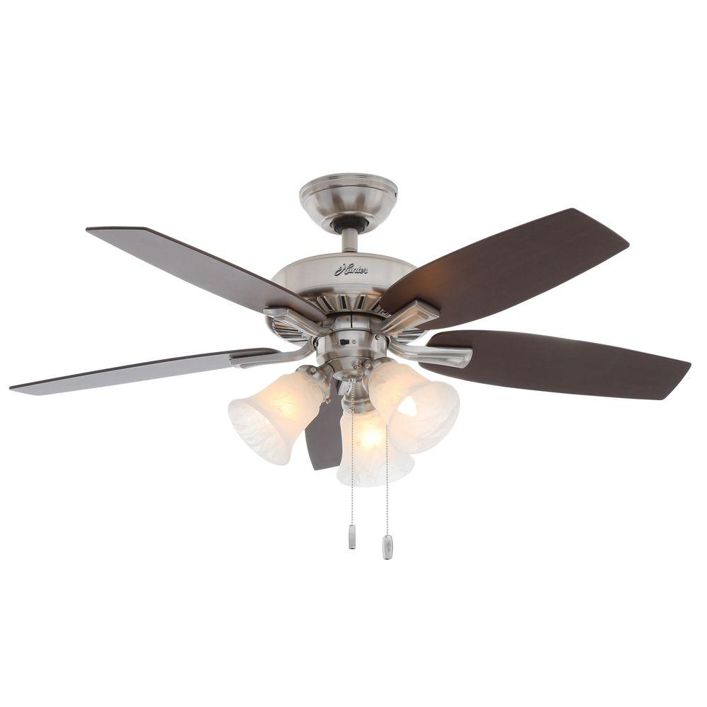 Hunter Atkinson 46 In Indoor Fresh White Ceiling Fan With Light