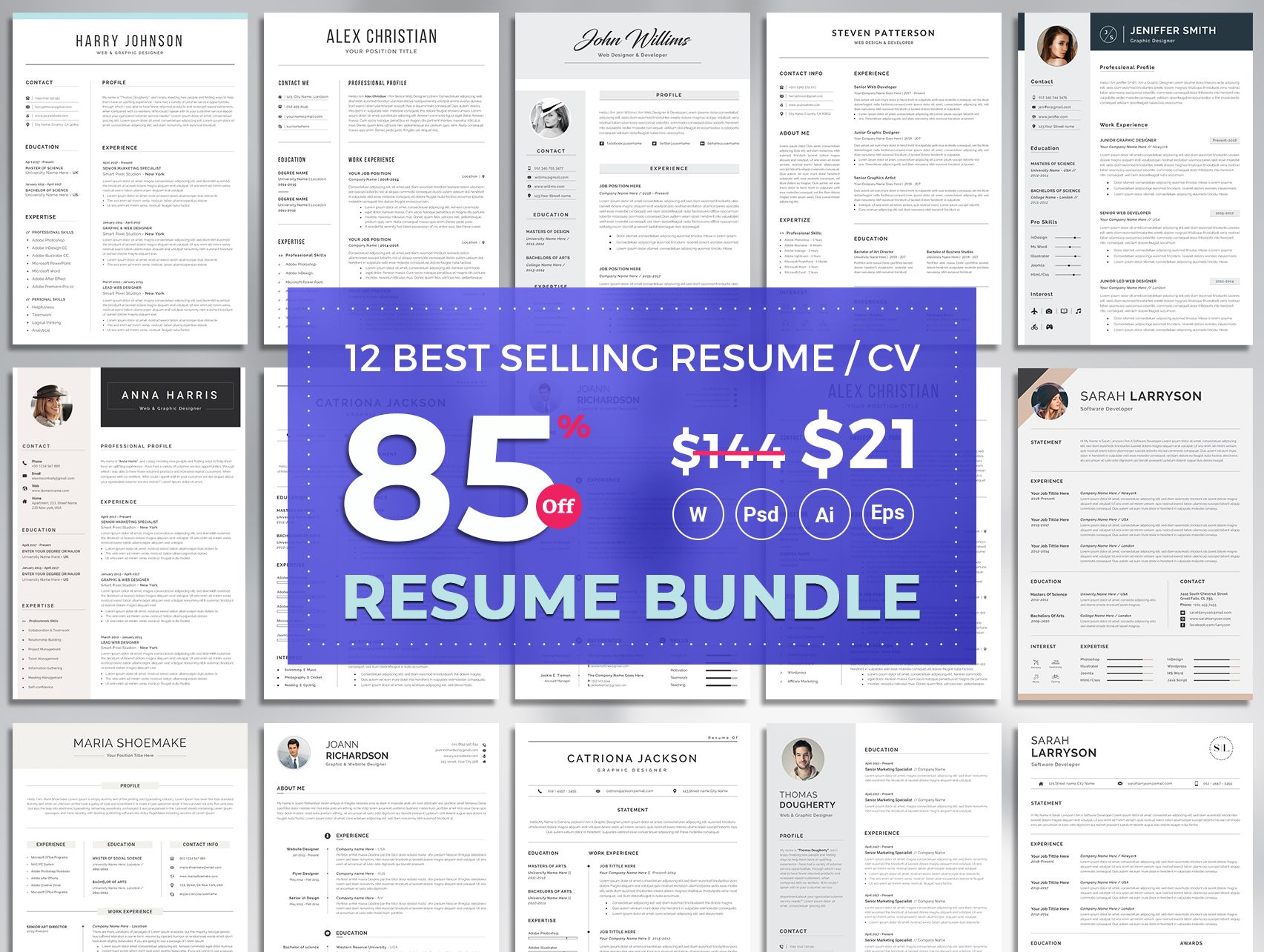 Professional Resume Template Top Selling Resume Cv Big Etsy Resume Template Word Resume Template Professional Resume Template