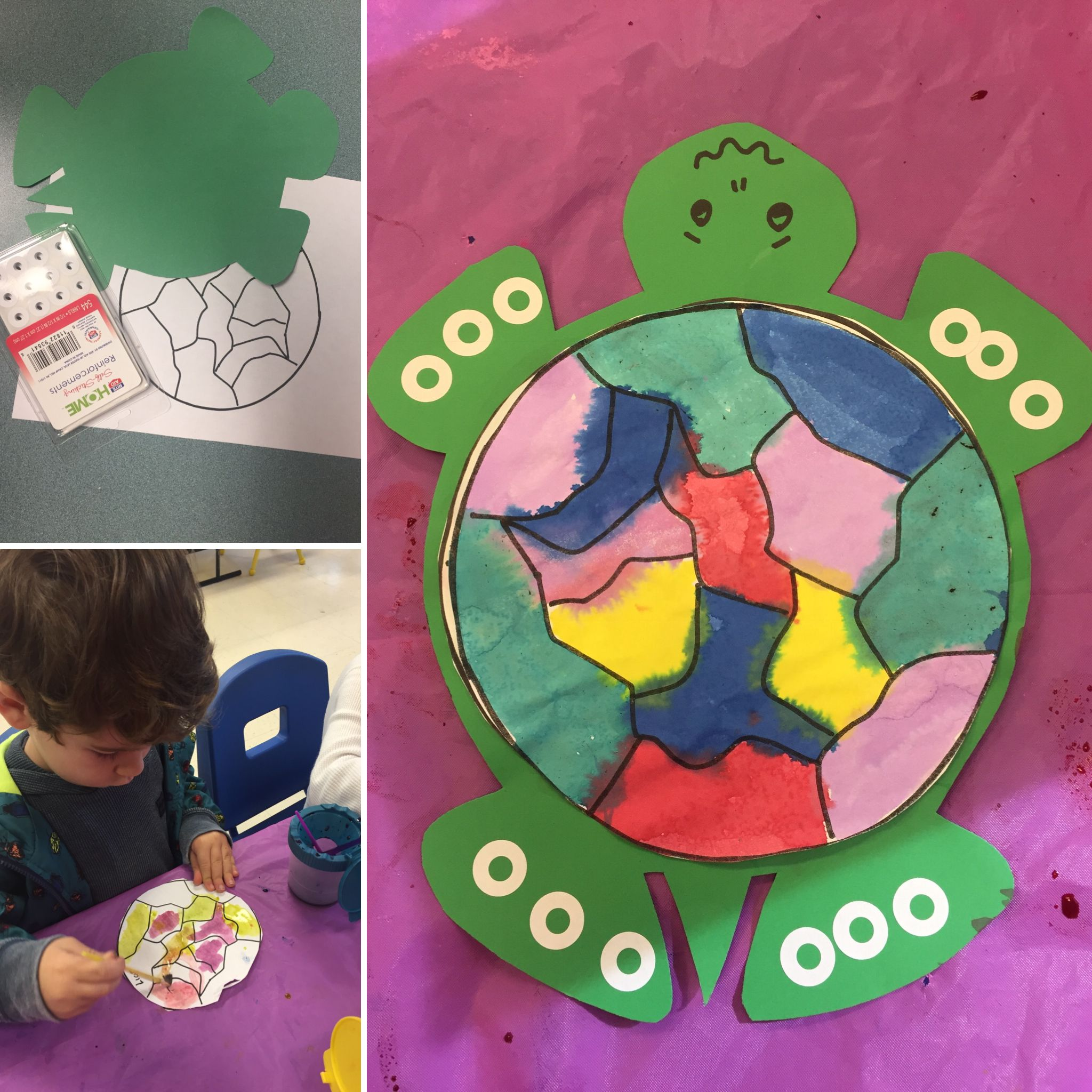 Turtle Watercolor Shell Activity Craft For Preschool Pond