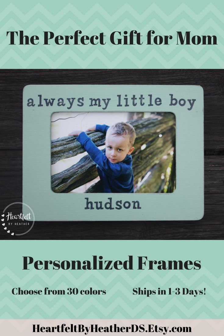 Custom always my little boy picture frame personalized