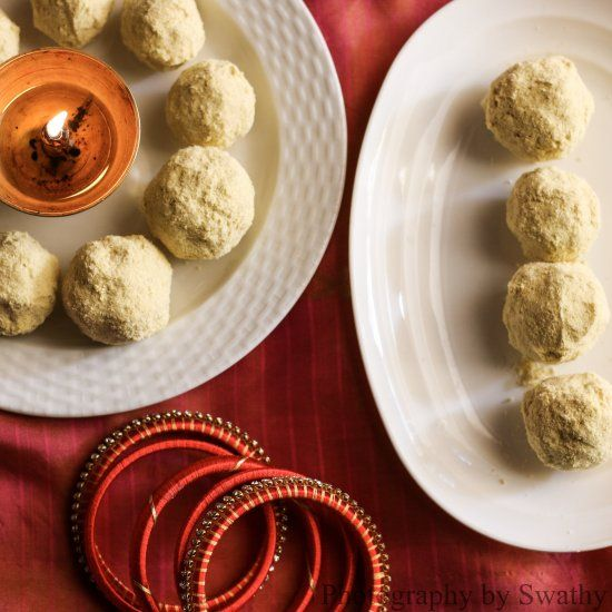 Besan Ladoo with Olive Oil