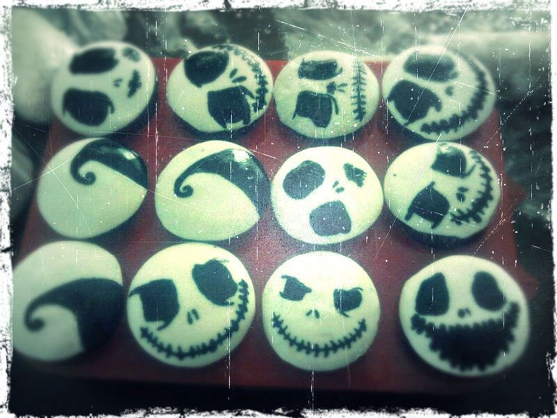 Nightmare Before Christmas Cupcakes #movie #recipe #dessert #decorating #Jack_skellington