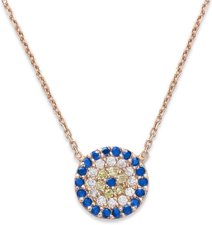 Giani Bernini 18k Rose Gold over Sterling Silver Necklace, Evil Eye Pendant - $40.00
