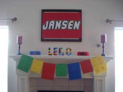 @Kristen Vandermolen I love how she spelled out his name in legos!! Cute idea for the boys?