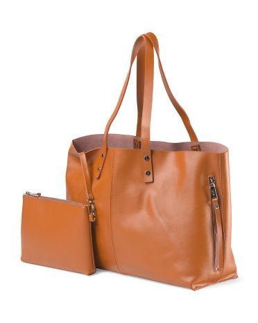 ff081ad86 image of Leather Unlined Tote | Things to Wear | Fashion, White ...