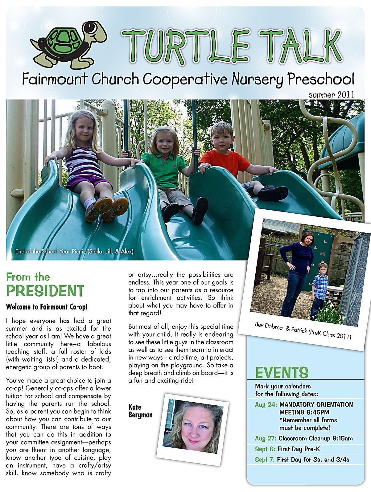 fairmount cooperative preschool fccns summer newsletter education