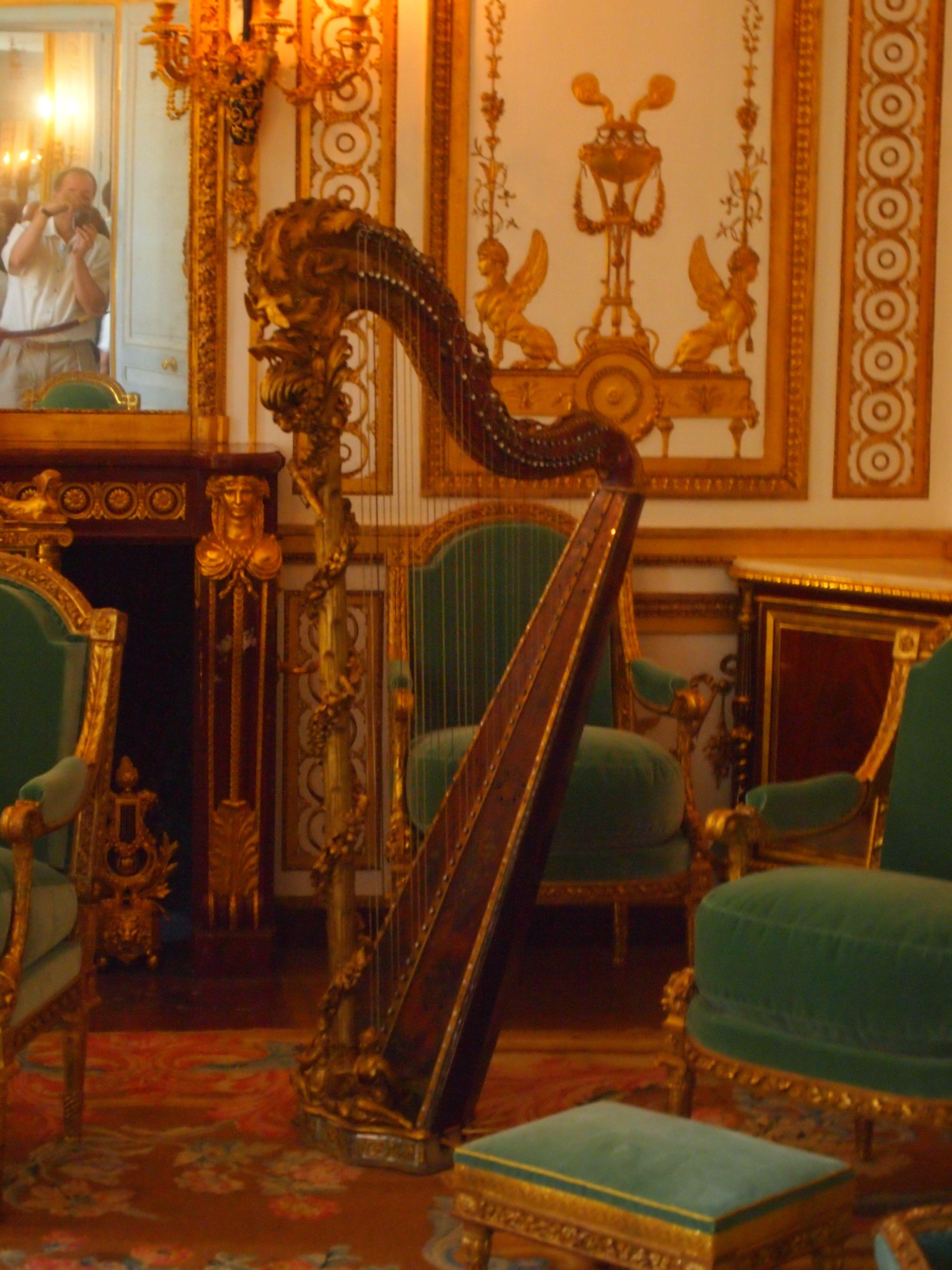 Marie Antoinette's harp | Marie Antoinette, Versailles in