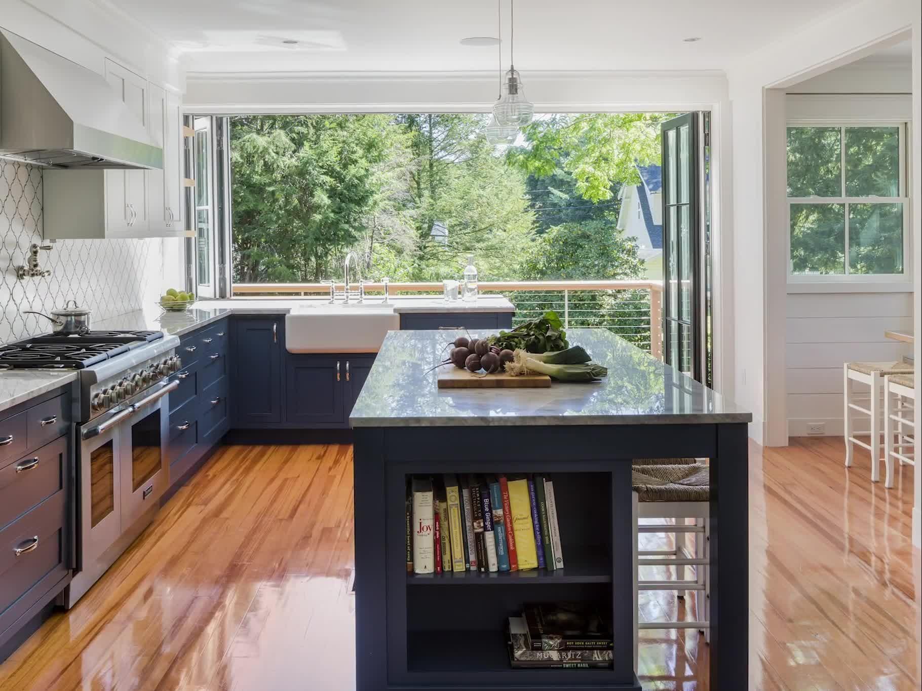 Indoor Outdoor Kitchen with Bifold Doors