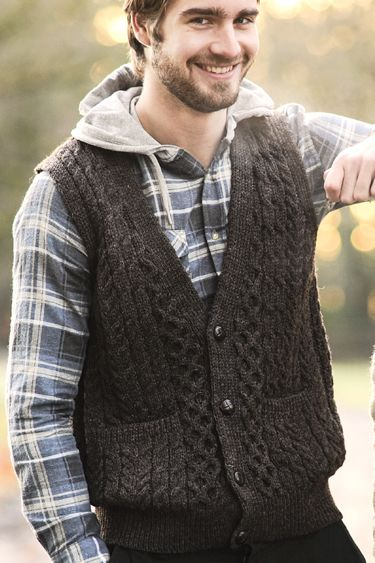 aran mens vest - Google Search | Cardigans For Men | Pinterest ...