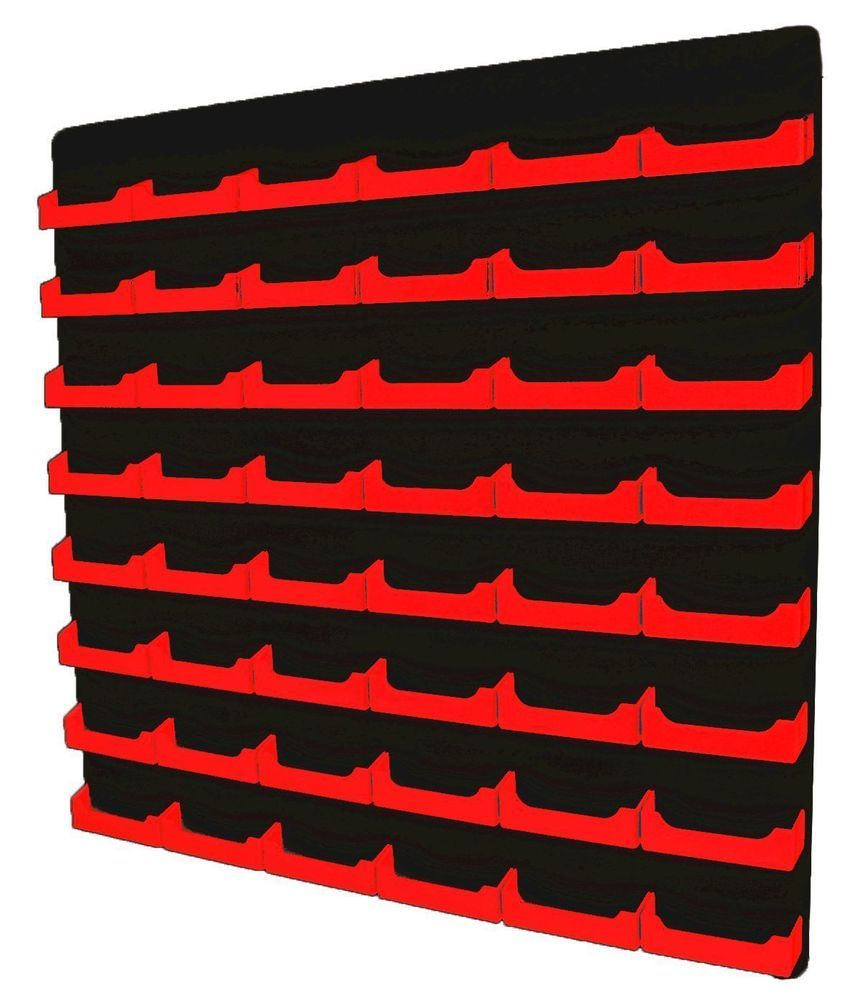Business card holder multi slot red w black acrylic back 48 business card holder multi slot red w black acrylic back 48 pocket wall mount magicingreecefo Images
