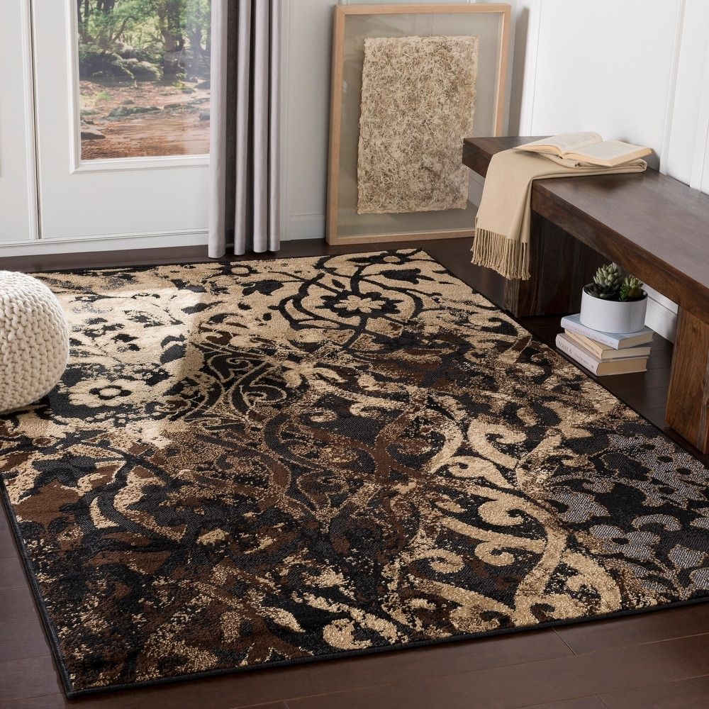 Area Rug 8 10 X 12 9 8 10 X 12 9 Beige Black In 2020