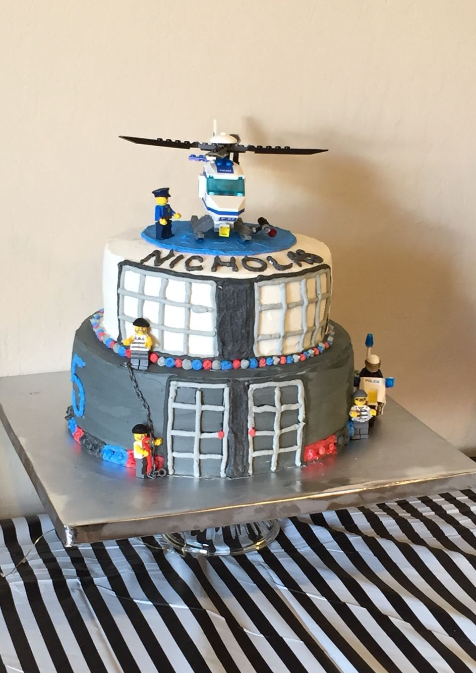 Lego City Cake With Images Lego City Cakes Police Birthday