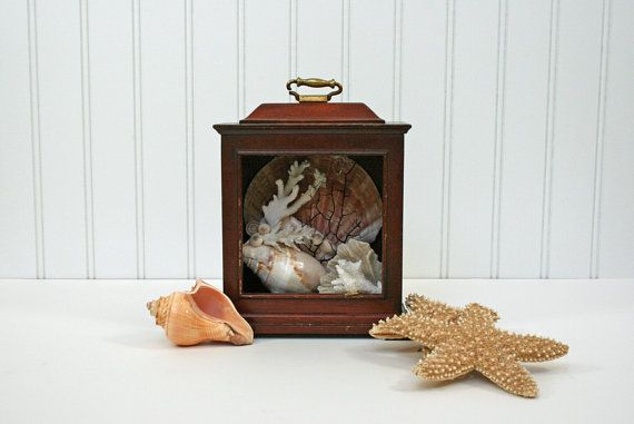 vintage wood clock box