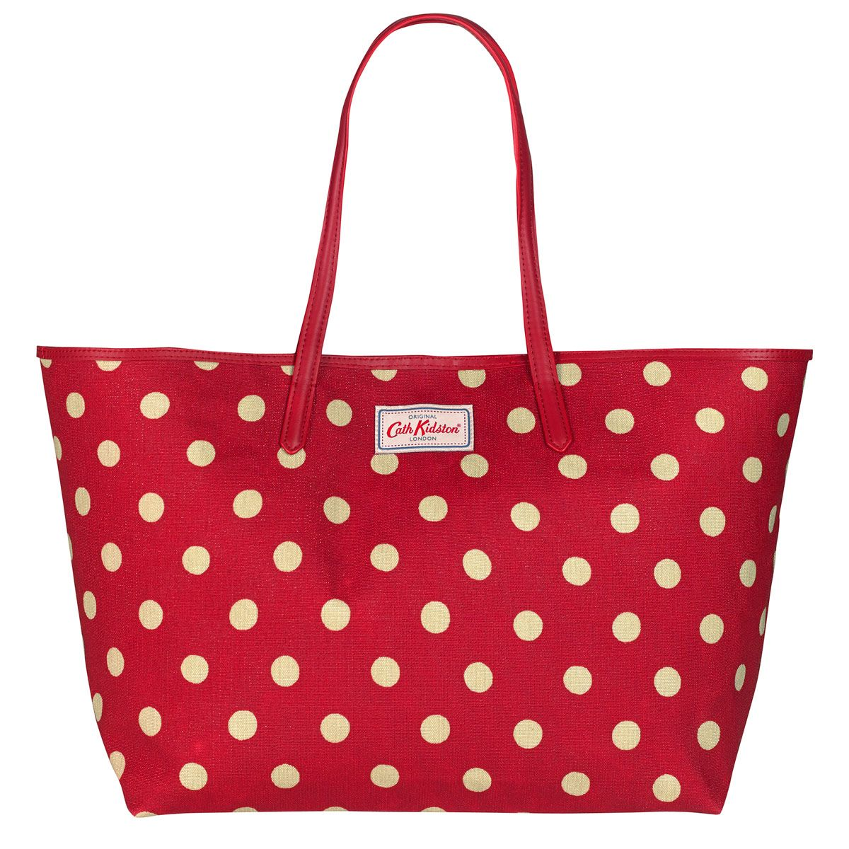 2019 discount sale hot-selling genuine clear-cut texture Button Spot Large Leather Trim Tote | Cath Kidston | | cath ...