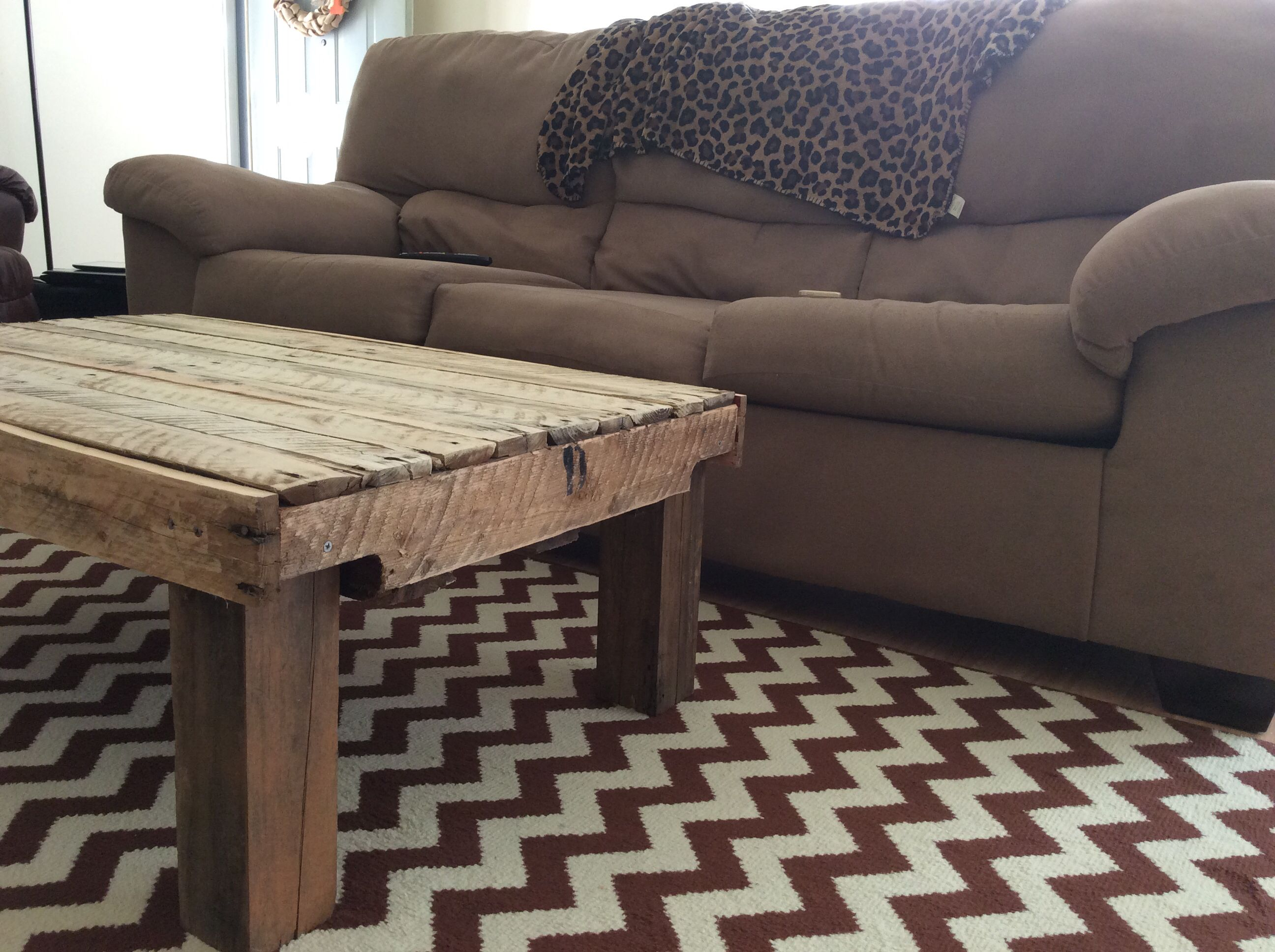 Coffee table made from free pallets found on Craigslist ...