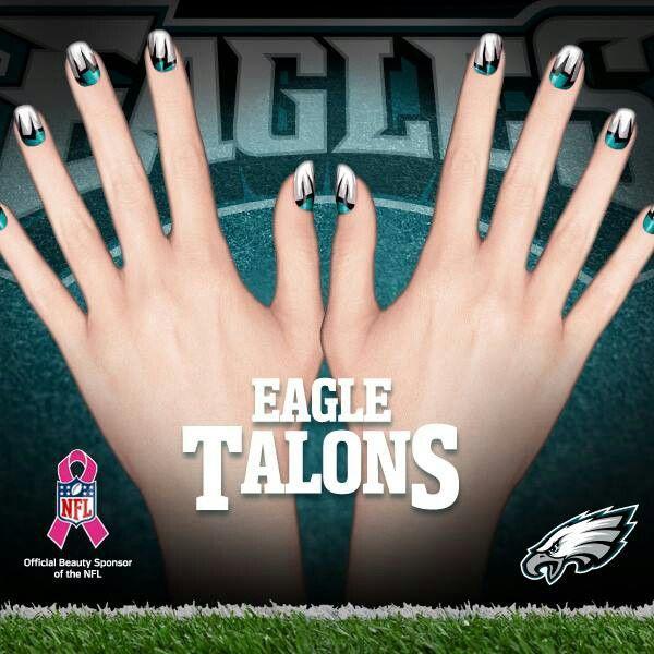 philadelphia eagles nails eagle