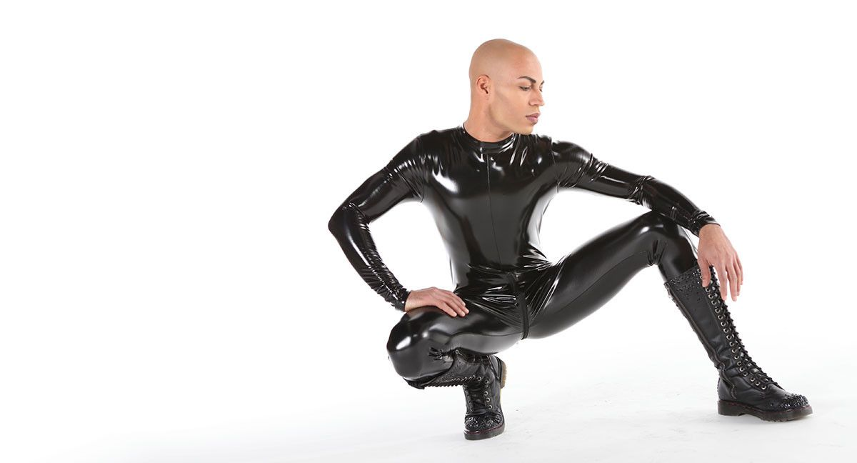 CATR Latex Rubber Catsuit cat suit 3 way Zip Him or Her