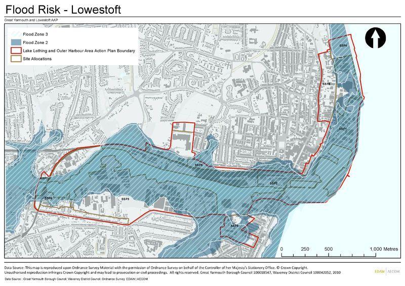 Worksheet. Lowestoft UK flood risk zones  Flood Study Exhibition