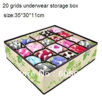 J6j sb036 нетканые ткани материал хорошее качество складывая 20 сеток нижнее белье хранения багажа размер