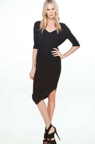 LITTLE BLACK DRESS  FITS MANY BODIES WEATHER   SHORT WAISTED OR FULLER  TUMMY