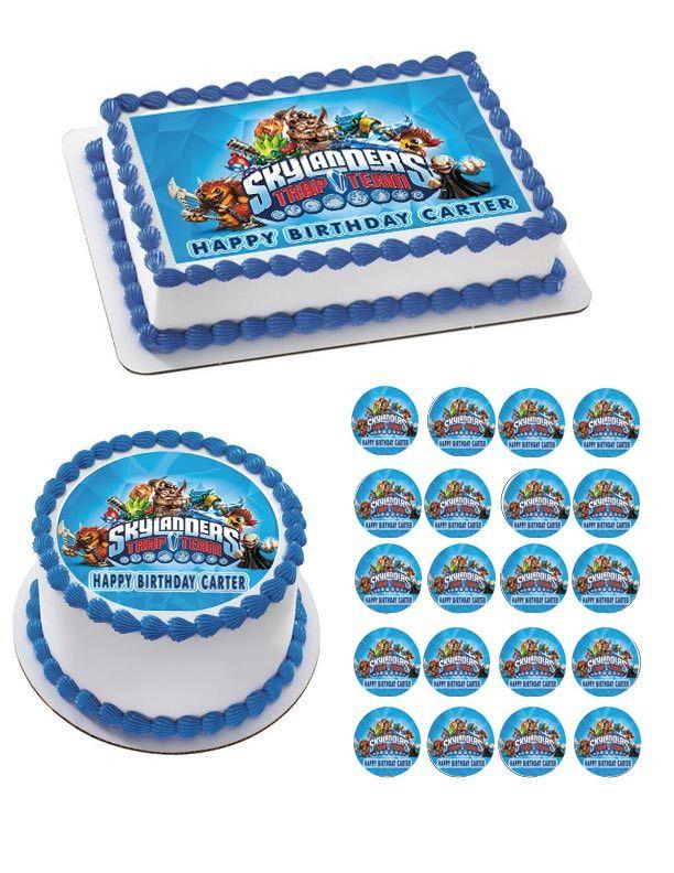 Skylanders Trap Team Edible Birthday Cake Topper OR Cupcake Topper