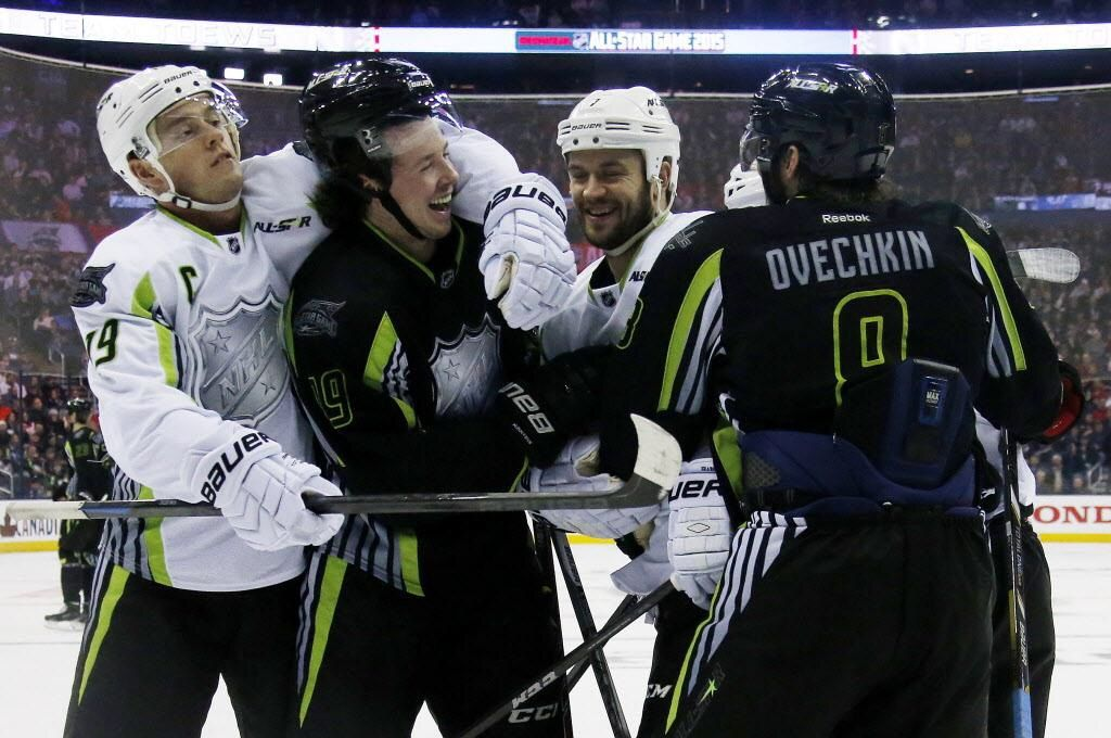 With Moments Like This He Ll Never Lose The Captain Serious Monicker Nhl All Star Game Nhl Jonathan Toews
