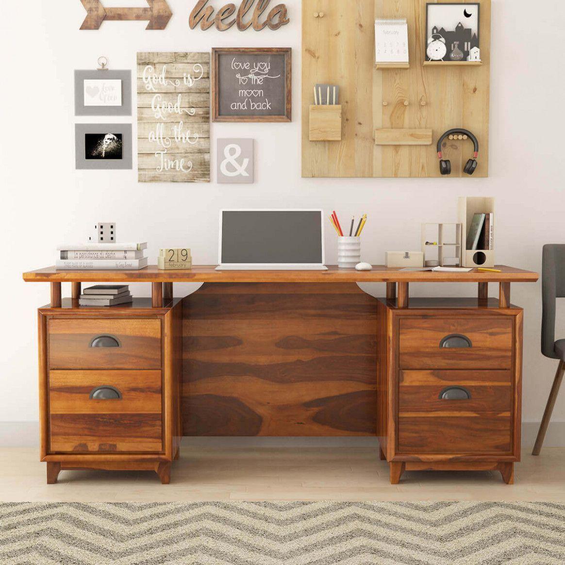 Incredible Solid Wooden Desks For Home Office Desks